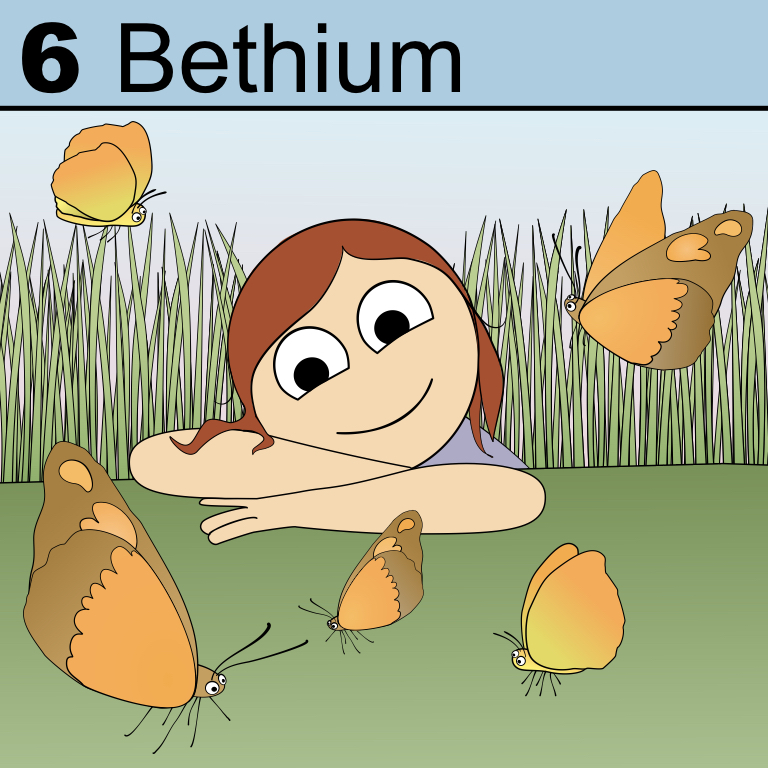 Bethium, an element who enjoys nature watching.