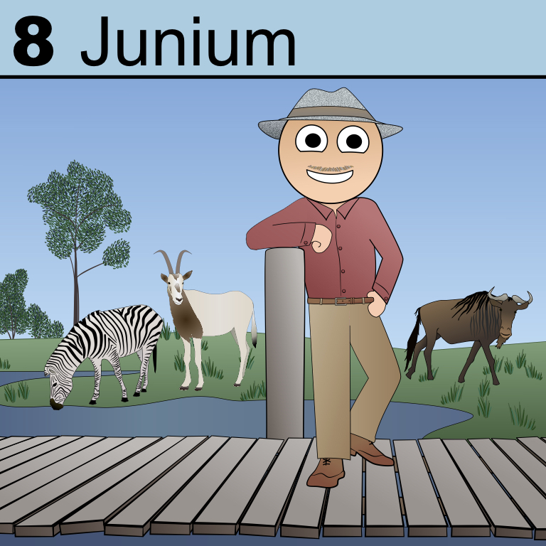 Junium is known for philanthropy and a love of animals.
