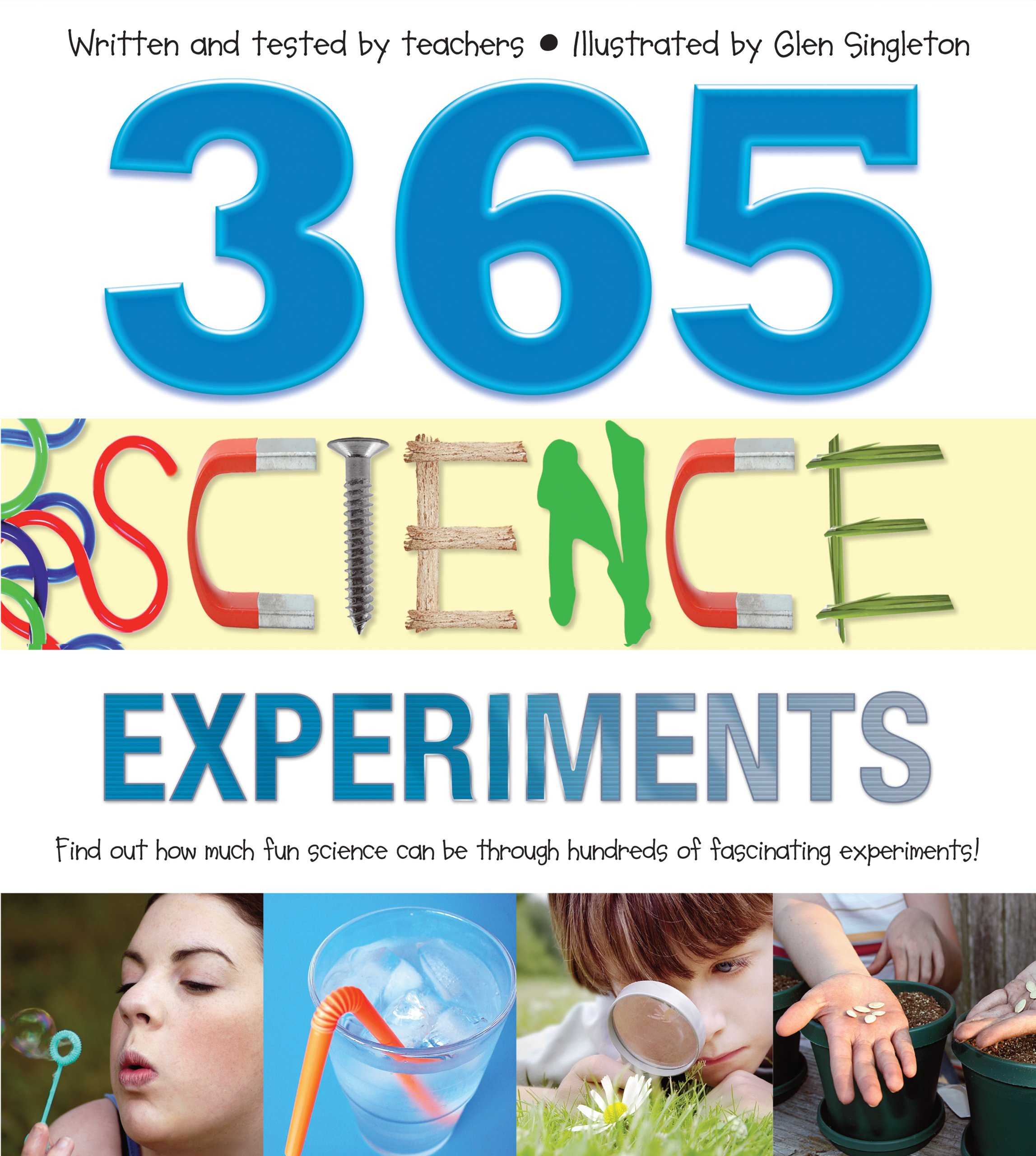 Book cover of 365 Science Experiments.